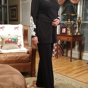Chico's Black Knit pants